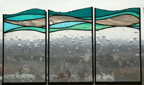 Waves - Triptych, copper foil